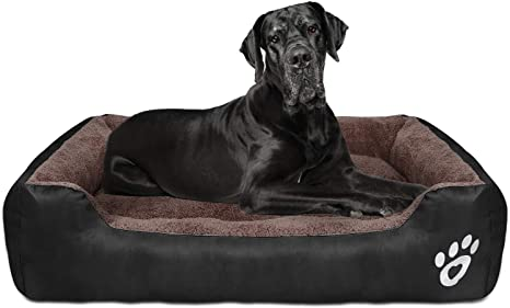 Amazon Com Cloudzone Dog Bed Machine Washable Rectangle Breathable Soft Pp Fiber With Nonskid Bottom Extra Large Pet Bed For Medium And Large Dogs Or Multiple Kitchen Dining