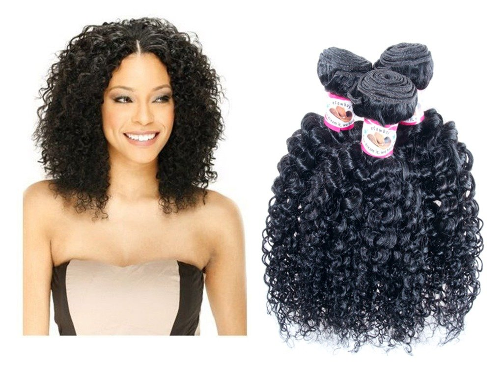 Amazon Jerry Curl Brazilian Virgin Hair Weave Extensions 3