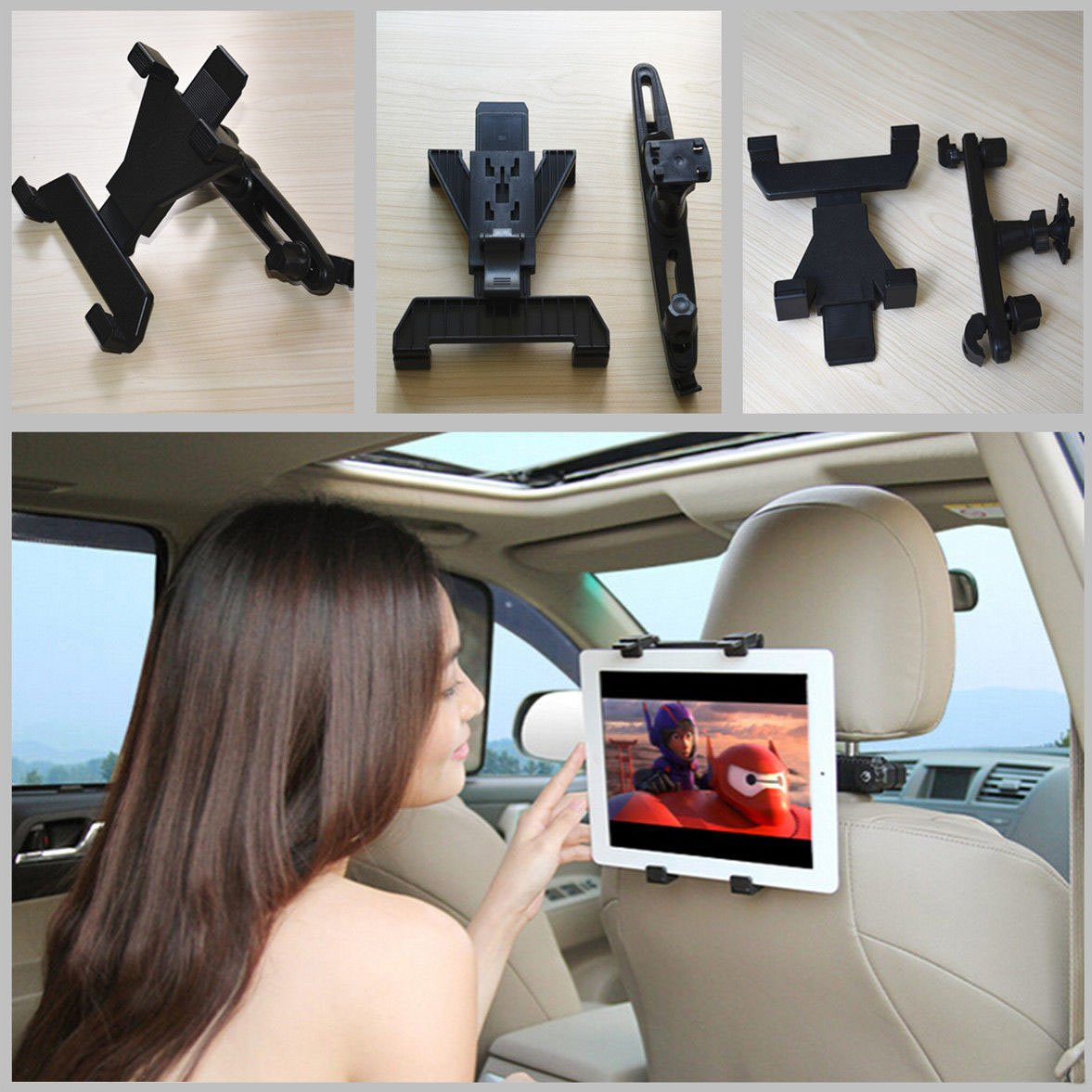 7''-10.2'' Ratating Car Rotatable Bracket Seat Headrest Holder Mount For IPad Air by ganesha2015