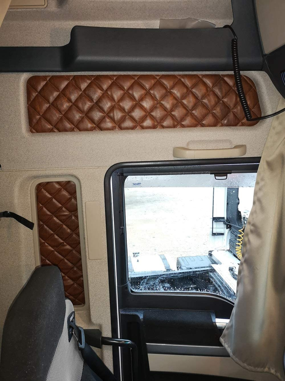 Kram Truck Abdeckungen Fenstervorhänge Hohe Kabine Man Tgx 4 Stück 12 Farben Auto
