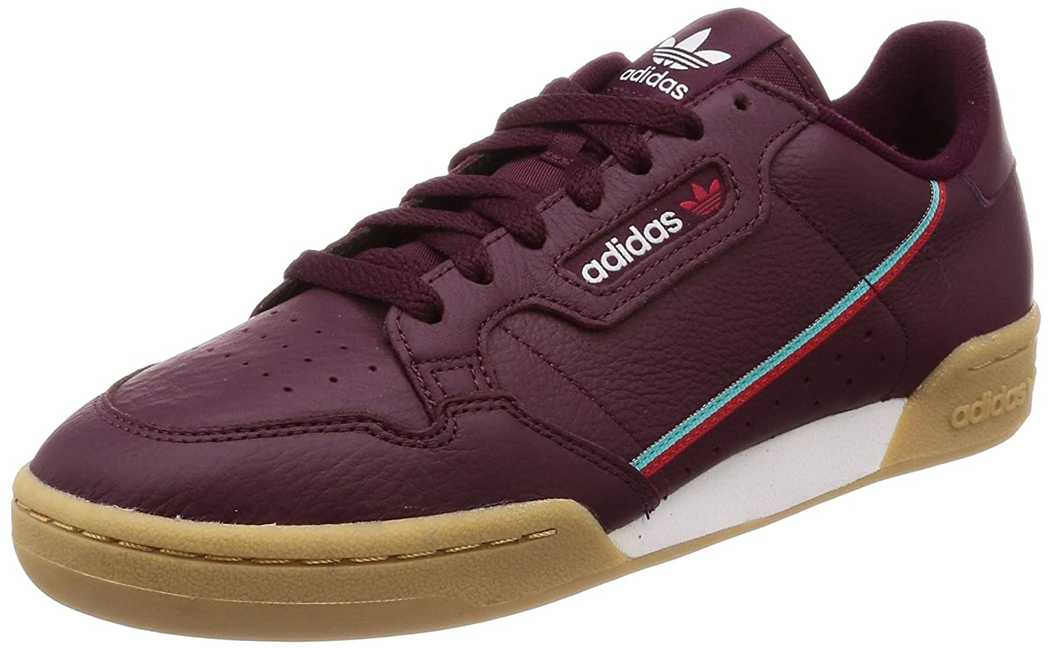 Red (Granat Escarl Agalre 000) adidas Men's Continental 80 Fitness shoes