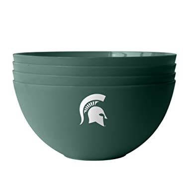 NCAA Michigan State Spartans Plastic Bowls, 4-Pack