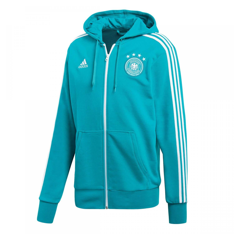 adidas Herren DFB 3 Stripes Full Zip Hoody Kapuzenjacke