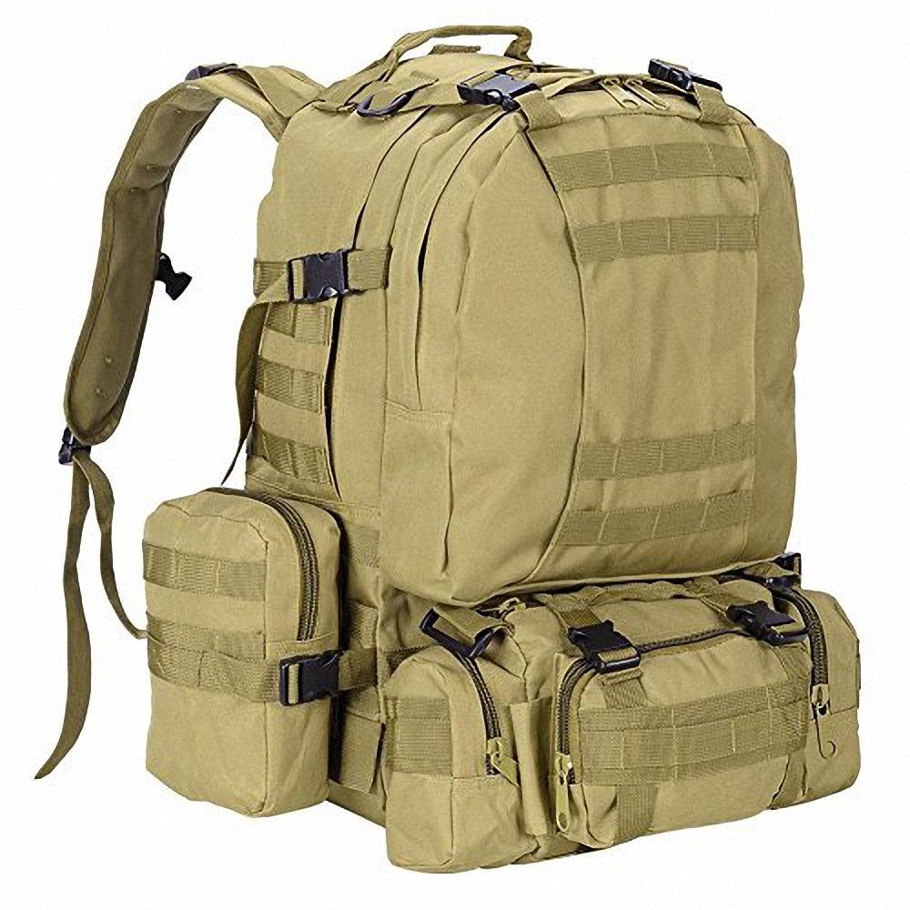 durable modeling Tactical Camo Hiking Backpack Women Men Waterproof Outdoor Military Assault Rucksack for Camping Trekking