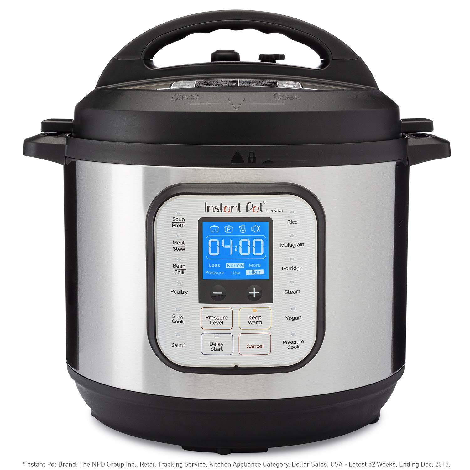 Instant Pot Duo Nova 7-in-1 Electric Pressure Cooker, Slow Cooker, Rice Cooker, Steamer, Saute, Yogurt Maker, and Warmer|8 Quart|Easy-Seal Lid|14 One-Touch Programs
