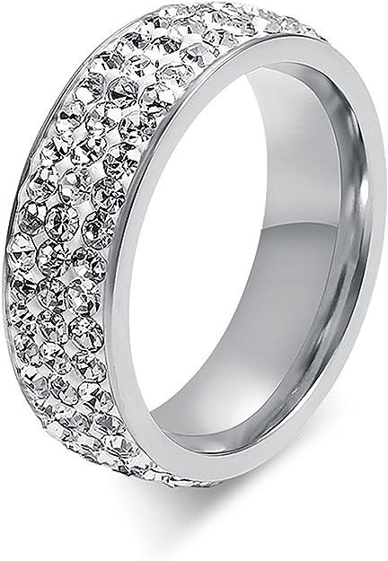Amazon.com: ADAIER 7mm Women Stainless Steel Eternity Ring