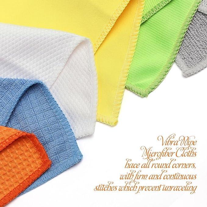 Un conjunto de 24 toallas 40x40cm limpiadoras con efecto completo, hechas de 6 materiales diferentes que cada uno tiene sus propias características.