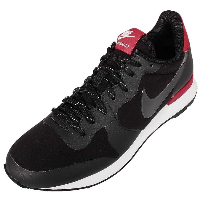 new style 8cb7e 1734d Amazon.com   Nike Women s Wmns Internationalist TP, BLACK BLACK-CHALLENGE  RED-WHITE, 9 US   Road Running