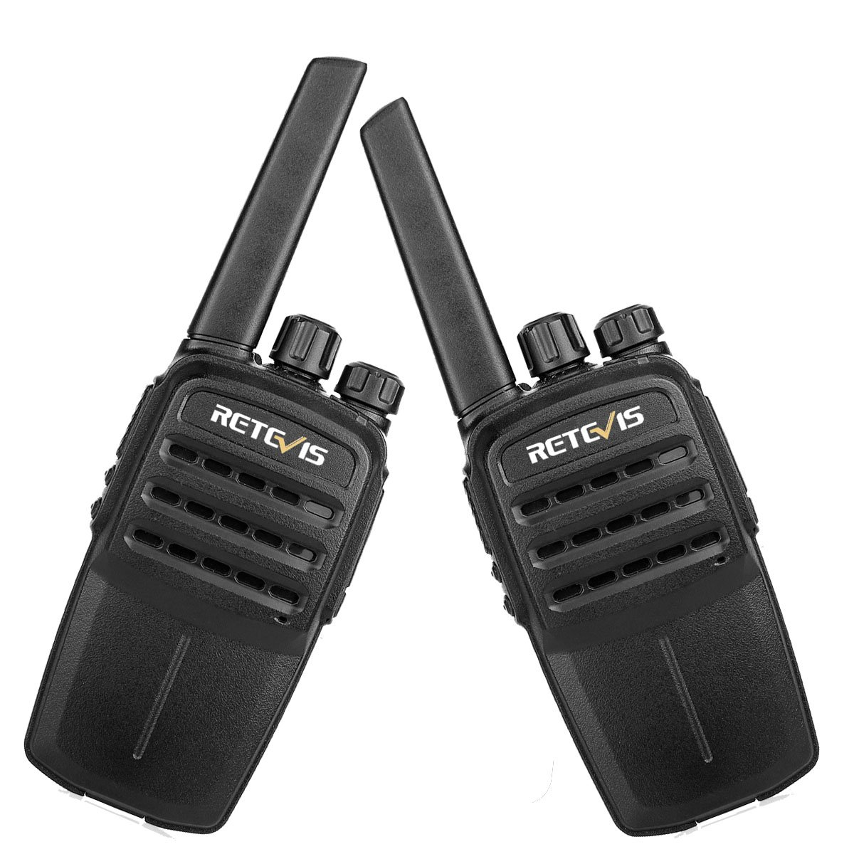 Retevis RT40 FRS Digital Walkie Talkie 48 CH Licence-free Two way Radio (Black,2 Pack) and programming cable