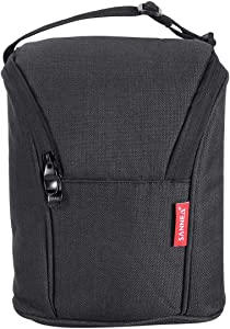 Lightweight Insulated Mini Lunch Bag,Cooler Lunch Box For Women,Men, Compact Lunch Pail for Office Black.