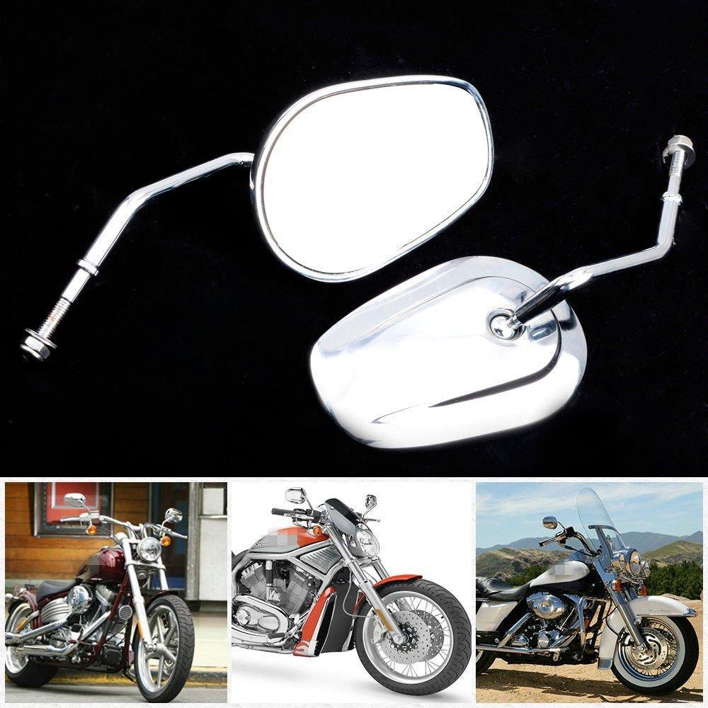 LEAGUE/&CO Motorrad Spiegel R/ückspiegel f/ür Harley Dyna Electra Glide Sportster XL 1200 883