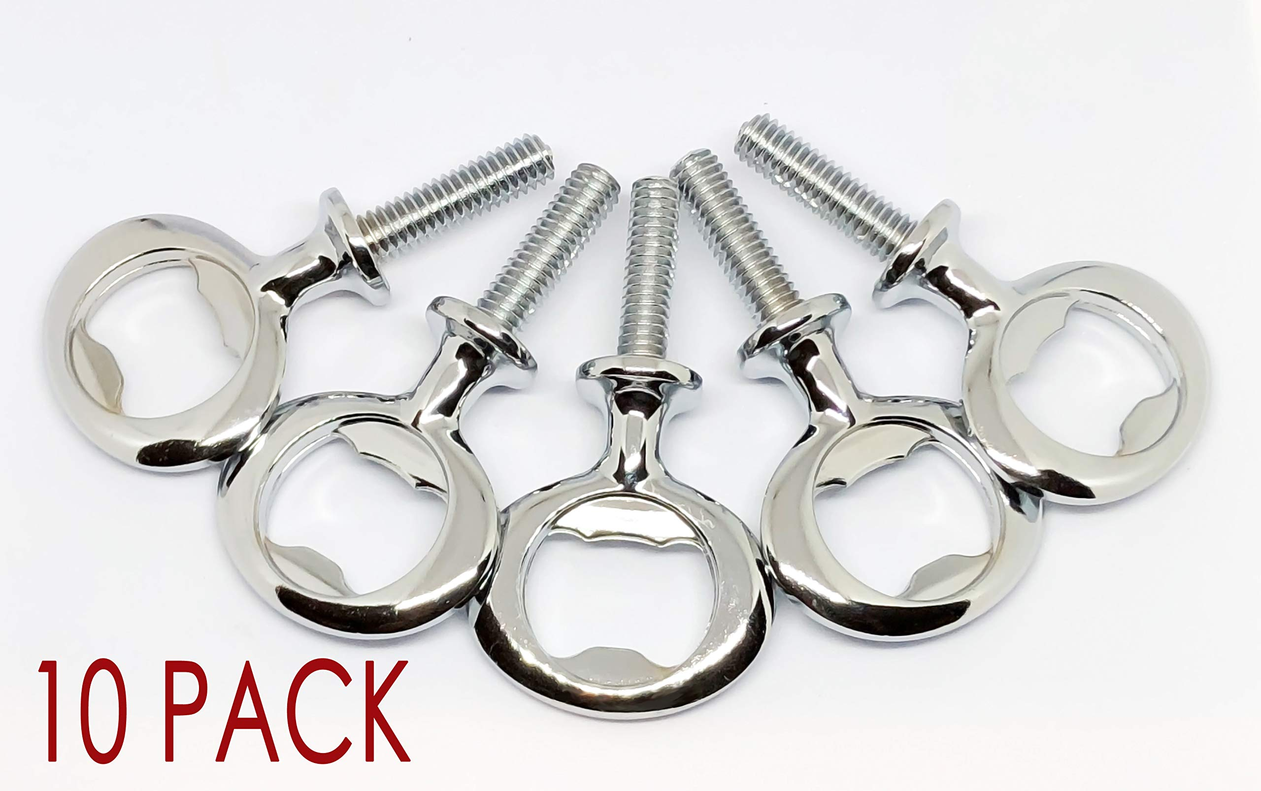 Chrome Bottle Opener Hardware Kit for Wood Turning 10 Pack by C and C Stock