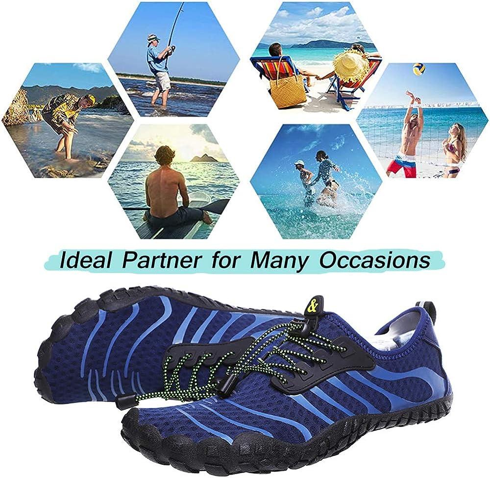 Ikeyo Chaussure Aquatique Homme Femme Chaussures de Plage Natation Surf Yoga Chaussures de Bain Aquatique Chaussures S/échage Rapide