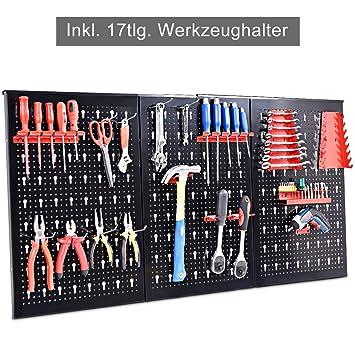 Top COSTWAY Werkzeugwand mit 17tlg. Werkzeughalter-Set QX11