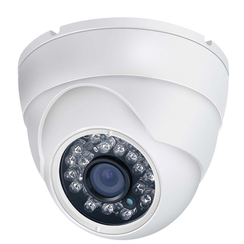 Hiseek Analog CCTV Camera HD 1080P 4-in-1 (TVI/AHD/CVI/960H Analog) Security Dome Camera Outdoor Metal Housing, 24 IR-LEDs True Day & Night Monitoring 3.6mm Lens
