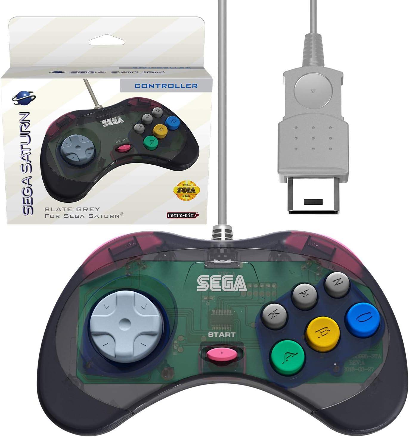 Amazon com: Retro-Bit Official Sega Saturn Controller Pad for Sega