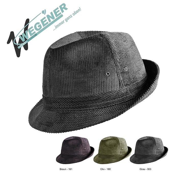 Wegener Cord sombrero sombrero para hombre Cazadores sombrero Casa Meister  sombrero Trilby Sombrero de Mujer (Tallas 53 - 62 en 3 colores  Amazon.es   Ropa y ... 6dfd83b3921c