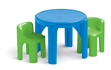 Amazon Com Little Tikes Bright N Bold Table Chairs Green Blue