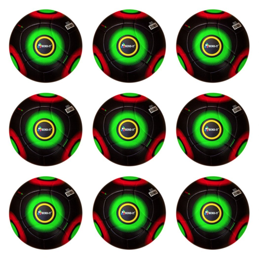 bend-itサッカー( 9パック)、knuckle-it ProプレミアムOMB一致サッカーボール、サイズ5 B01E0C89F6Knuckle-It Pro Black Premium OMB Match Soccer Balls 5