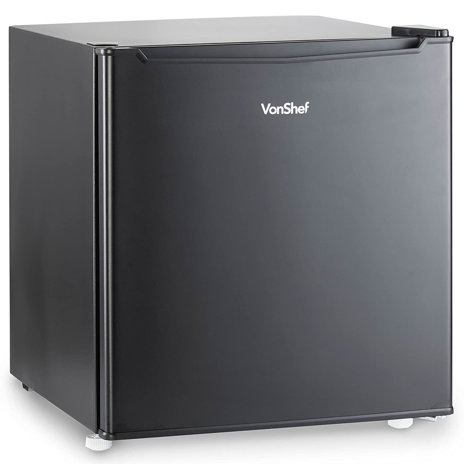 VonShef 75L Fridge with Ice Compartment – 48cm Wide Under Counter Refrigerator with Temperature Control – Black – A+ [Energy Class A+]