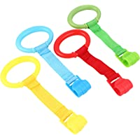 TOYMYTOY 4pcs Baby Toddler Walking Assistant Pull Up Ring Safety Stand Up Rings for Toddler