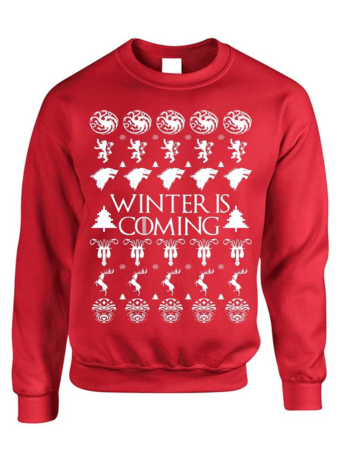 01a3dd1a4 Allntrends Adult Crewneck Winter Is Coming Ugly Christmas Sweater Holiday  hot sale 2017