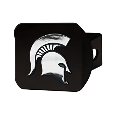 "FANMATS 21039 Team Color 4-1/2"" x 3-3/8"" Michigan State Hitch Cover (Black): Automotive"