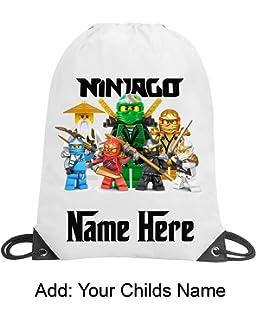 aae5fd86d3a Ninjago Personalised Boy Girl School Gym Swimming PE Nursery Drawstring Bag  Gif