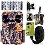Browning Spec Ops Elite HP4 Trail Camera with Batteries, 32 GB SD Card, Card Reader, Steel Reinforced Strap, and Spudz Microf