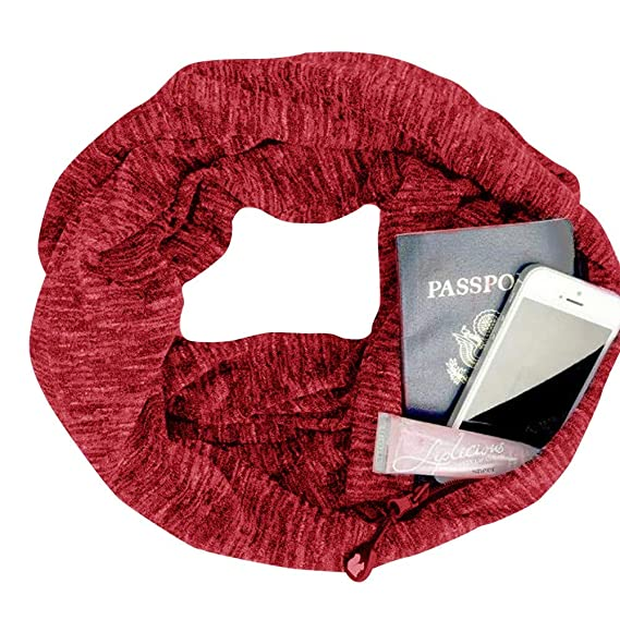 Bufanda para mujer de Otoño Invierno, Imprimir Navidad Bufanda Scarfs de Hidden Zipper Pocket Loop Bufanda Mujeres Unisex Viaje Bufanda-7: Amazon.es: Ropa y ...