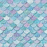Arthouse Behang 698305 met nixenschubben – glinsterende zeemeerminnenschubben, kleuren: roze, paars