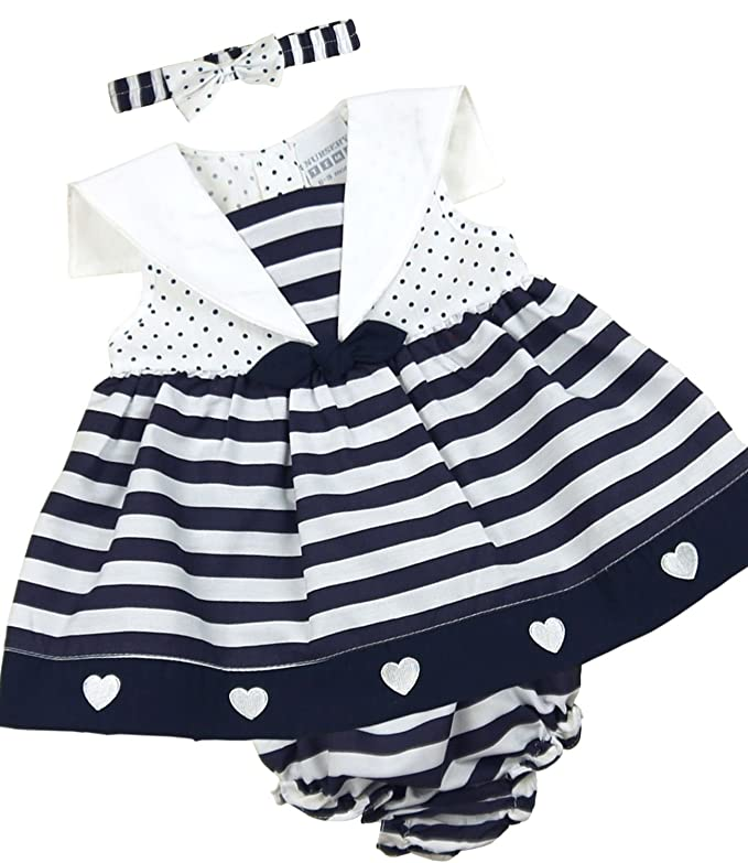 138da75e82dbd Babyprem Baby 3 Piece Dress Knickers Headband Set Stripes Clothes 6-18  Months  Amazon.co.uk  Clothing