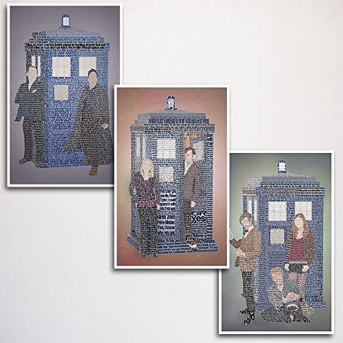 Doctor Who Word Art Print Three Set X