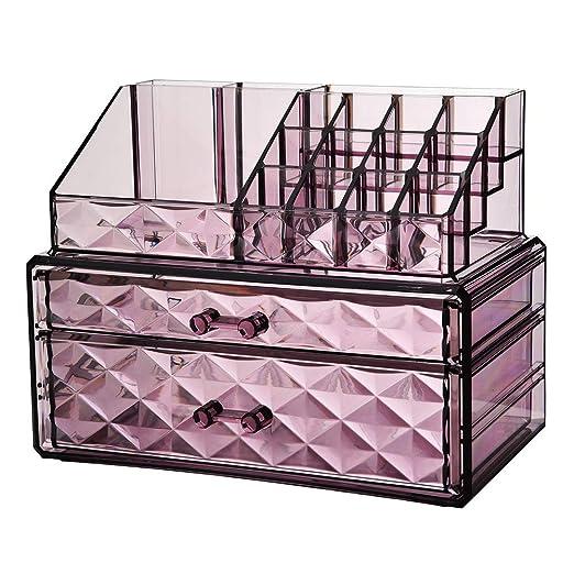 Cajón transparente Caja de almacenamiento de cosméticos Mesa de ...