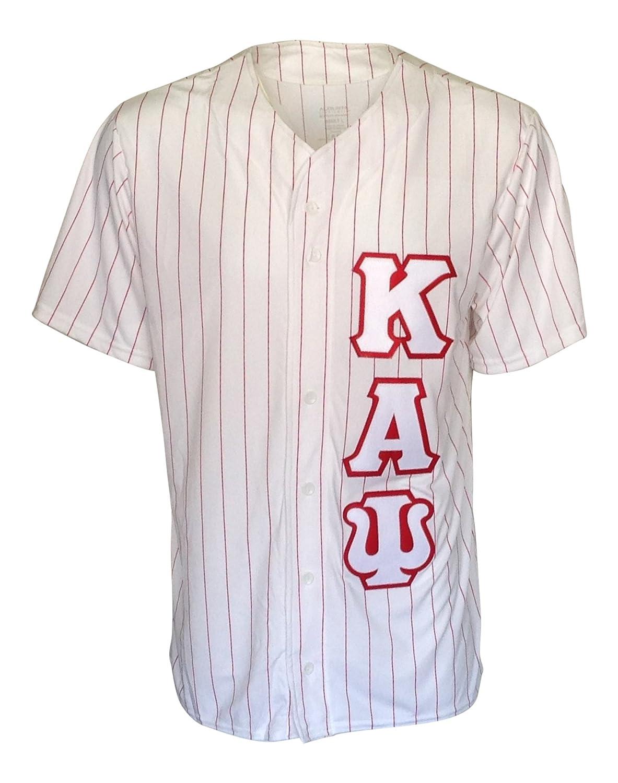 e3f6b94fc07 Amazon.com  Mega Greek Mens Kappa Alpha Psi Baseball Jersey  Clothing