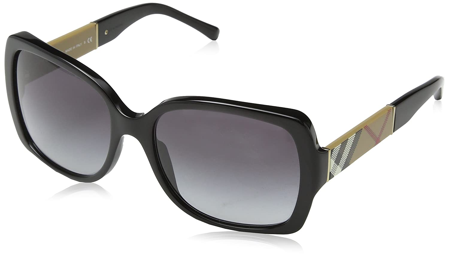 Burberry 0BE4160 34338G 58 Gafas de sol, Negro (Black/Grey Gradient), Mujer