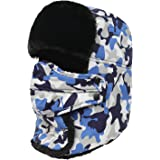 Camouflage Winter Trapper Hat With Breathing Valve Russian Ushanka Trooper Aviator Bomber Cap For Women&Men