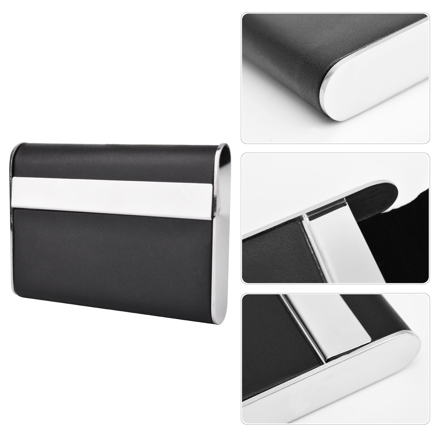 MaxGear Leather Business Card Cases Metal Business Card Case ...