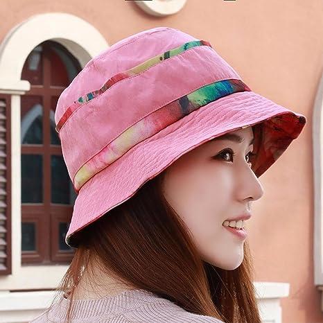 YANGFEIFEI-MZ Sombrero femenino días de primavera y otoño el nuevo roto  macetas sombrilla cap 298a47fada3