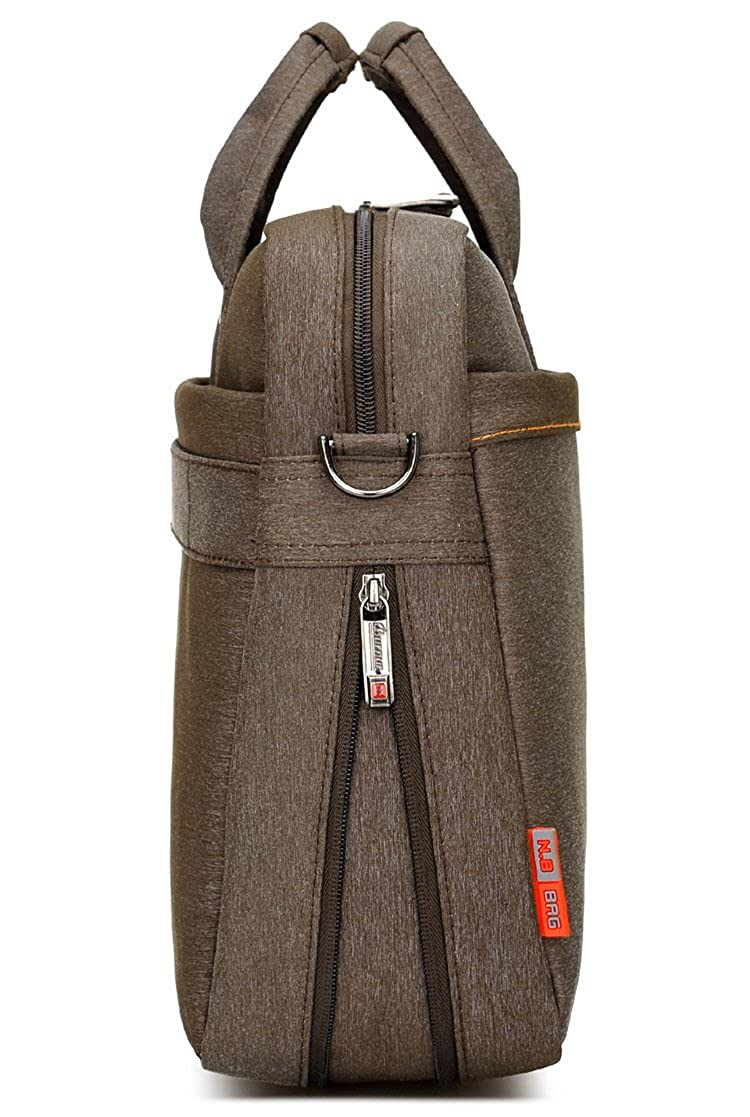 Burnur Waterproof Extendable Nylon Laptop Messenger Bag with Convex Buffer Pad