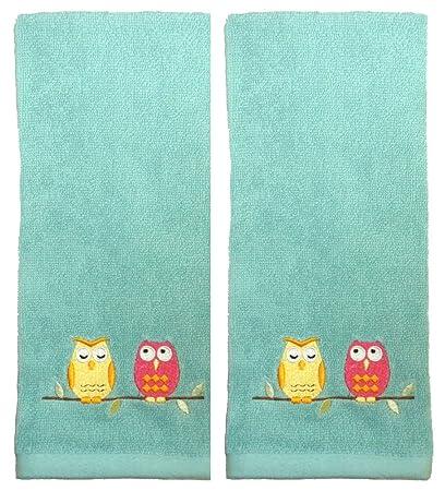 Posado búho baño accessories-hand toallas o soporte para cepillos de dientes, polirresina,