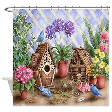 CafePress Bird House Shower Curtain