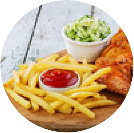 alfombrilla de ratón alas de pollo frito con patatas fritas ...