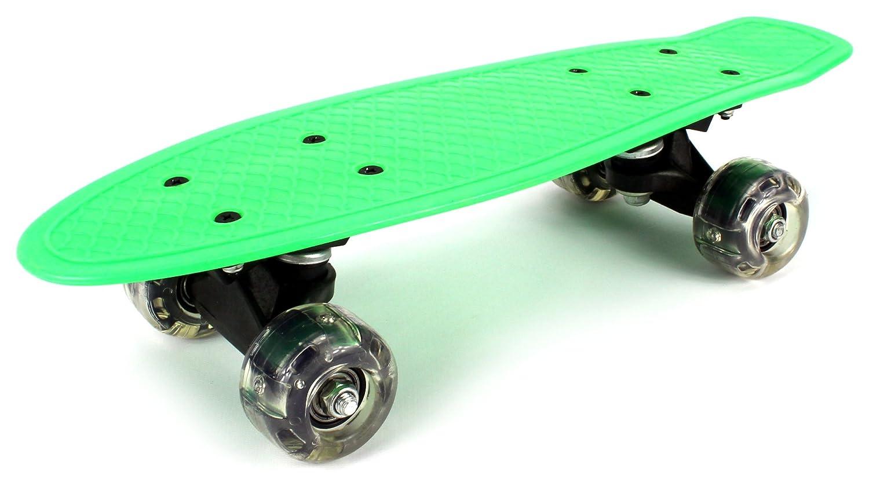 直営店に限定 Lightweight ABEC-7 Mini Cruiser Complete Complete 16 (Green) Inch Banana Skateboard w/ Light Up Wheels, High Quality Bushings, ABEC-7 Bearings (Green) by Velocity Toys B013PPDETK, 竹原市:efc51554 --- a0267596.xsph.ru