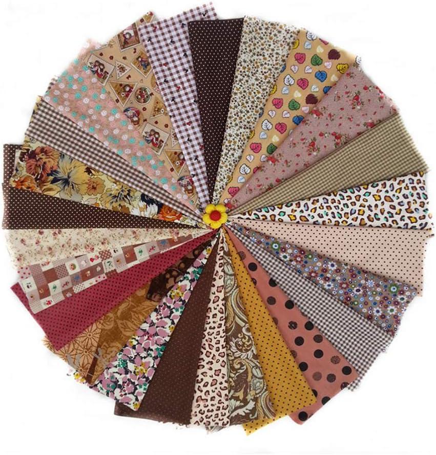 patchwork pretagliato decorazioni Confezione da 25 pezzi in cotone stampato 20 x 30 cm colore misto Milisten per lavori fai da te artigianato per lavori fai da te per trapuntatura quadri