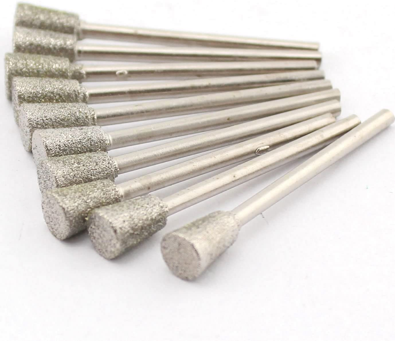 ILOVETOOL Diamond Inverted Conical Burrs 12mm Cone Grinding Head Tools for Stone