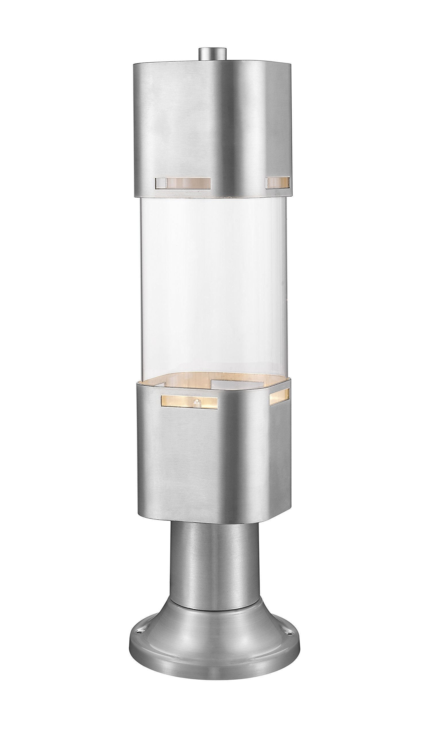 Z-Lite 562PHBR-553PM-BA-LED 1 Light Outdoor LED Post Head with Pier Mount 1