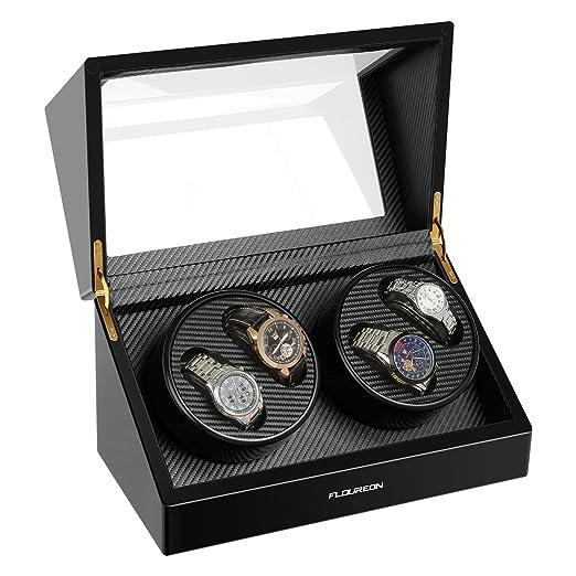 FLOUREON – Reloj clasico – Expositor para automático relojes reloj vitrina Watch Winder automática reloj clasico