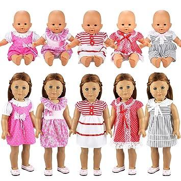 Ohne Girl Kleidung Babypuppe 36cm Schlafanzug Puppen Puppenkleidung Kleid 5 American Puppe Miunana Doll Sets Kleider Für 7IbymYvf6g
