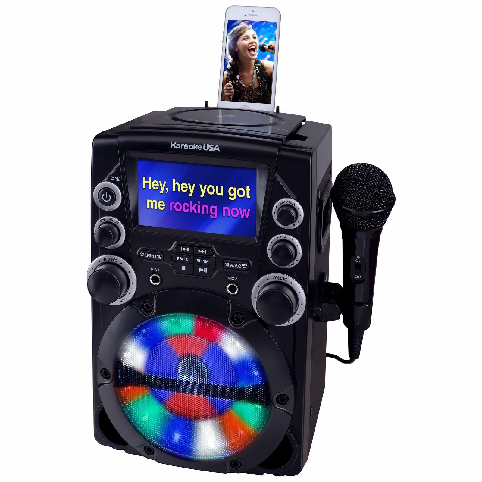 Karaoke USA GQ740 CD+G Karaoke System with 4.3'' Color TFT Screen